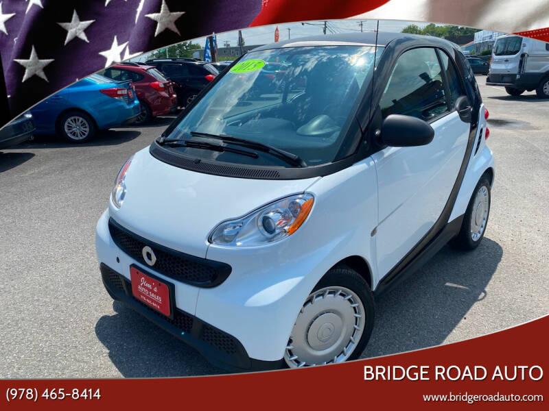 2015 Smart fortwo for sale at Bridge Road Auto in Salisbury MA