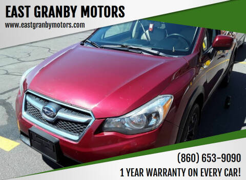 2014 Subaru XV Crosstrek for sale at EAST GRANBY MOTORS in East Granby CT