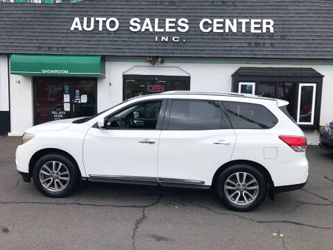2013 Nissan Pathfinder for sale at Auto Sales Center Inc in Holyoke MA