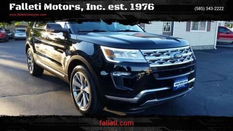 2018 Ford Explorer for sale at Falleti Motors, Inc.  est. 1976 in Batavia NY