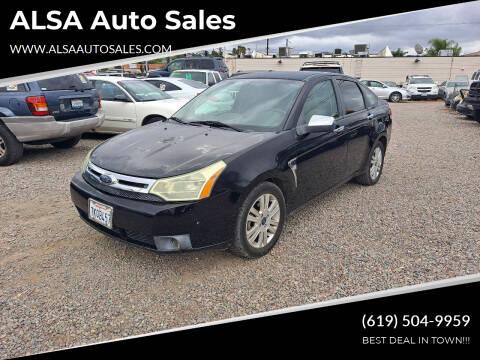 2008 Ford Focus for sale at ALSA Auto Sales in El Cajon CA