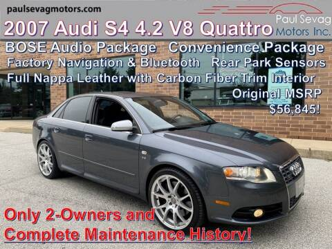 2007 Audi S4 for sale at Paul Sevag Motors Inc in West Chester PA