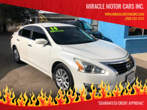 2014 Nissan Altima for sale at Miracle Motor Cars Inc. in Victorville CA