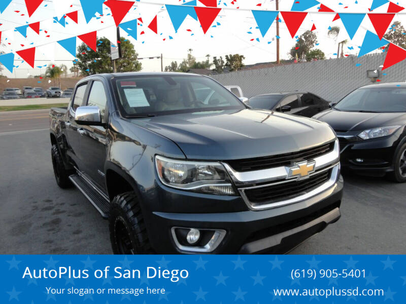 2017 Chevrolet Colorado for sale at AutoPlus of San Diego in Spring Valley CA
