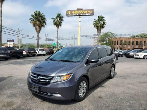 2016 Honda Odyssey for sale at A MOTORS SALES AND FINANCE - 10110 West Loop 1604 N in San Antonio TX