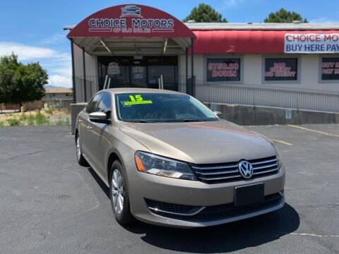 2015 Volkswagen Passat for sale at Choice Motors of Salt Lake City in West Valley  City UT