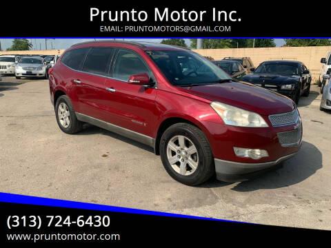 2009 Chevrolet Traverse for sale at Prunto Motor Inc. in Dearborn MI