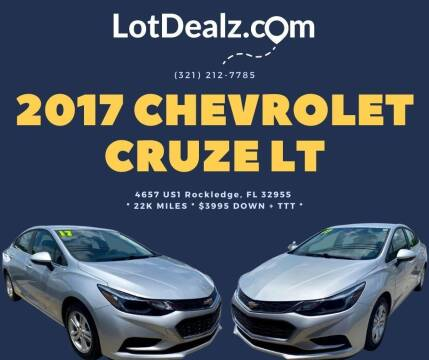 2017 Chevrolet Cruze for sale at ROCKLEDGE in Rockledge FL