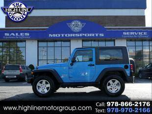 2010 Jeep Wrangler for sale at Highline Group Motorsports in Lowell MA