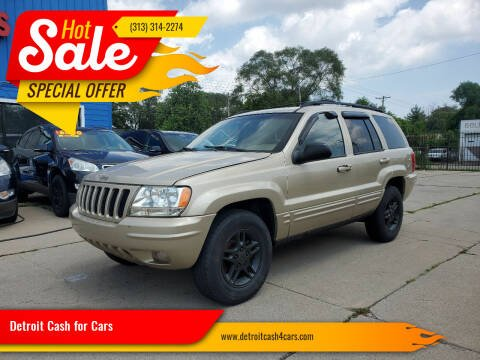 2000 Jeep Grand Cherokee for sale at Detroit Cash for Cars in Warren MI