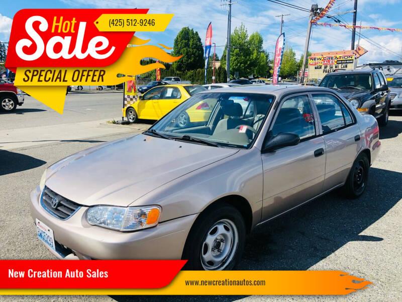 2002 Toyota Corolla for sale at New Creation Auto Sales in Everett WA