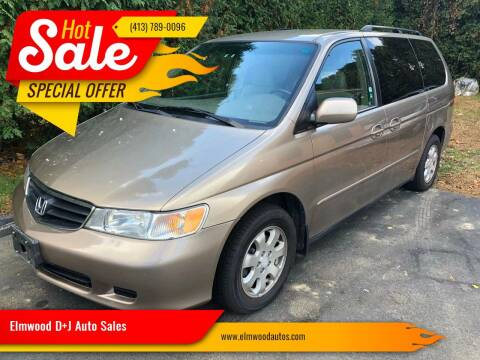 2003 Honda Odyssey for sale at Elmwood D+J Auto Sales in Agawam MA