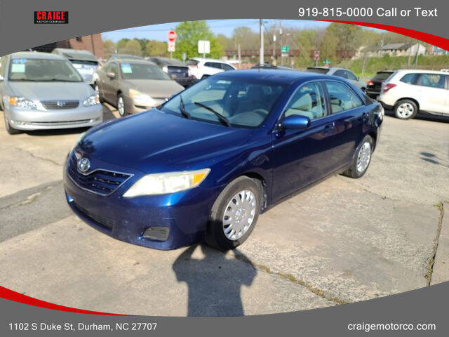 2010 Toyota Camry for sale at CRAIGE MOTOR CO in Durham NC