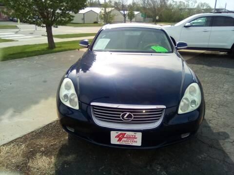2002 Lexus SC 430 for sale at Four Guys Auto in Cedar Rapids IA