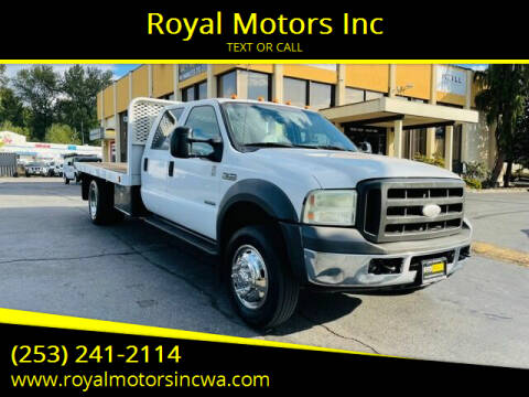 2005 Ford F-550 Super Duty for sale at Royal Motors Inc in Kent WA
