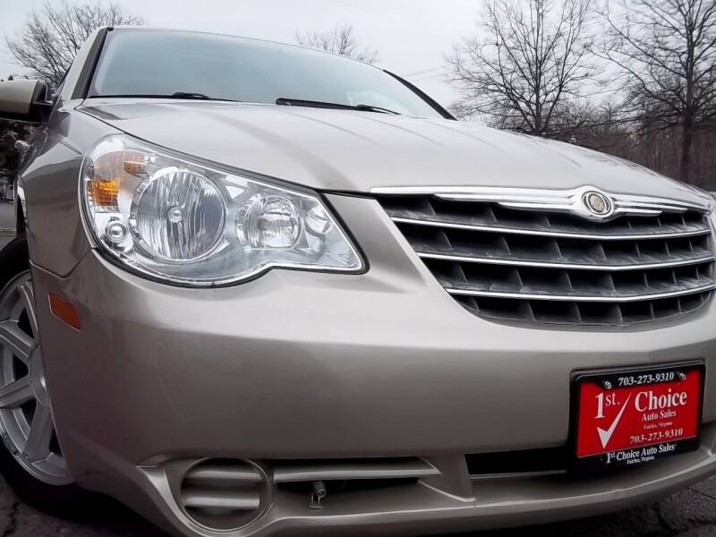2009 Chrysler Sebring for sale at 1st Choice Auto Sales in Fairfax VA