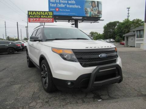 2014 Ford Explorer for sale at Hanna's Auto Sales in Indianapolis IN