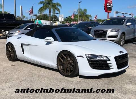 2012 Audi R8 for sale at AUTO CLUB OF MIAMI, INC in Miami FL