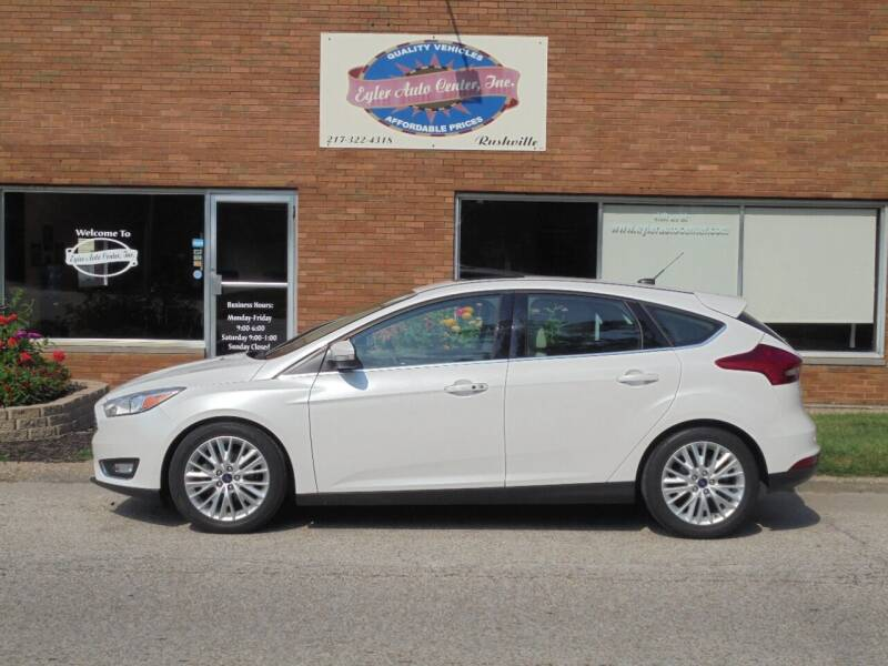 2018 Ford Focus for sale at Eyler Auto Center Inc. in Rushville IL
