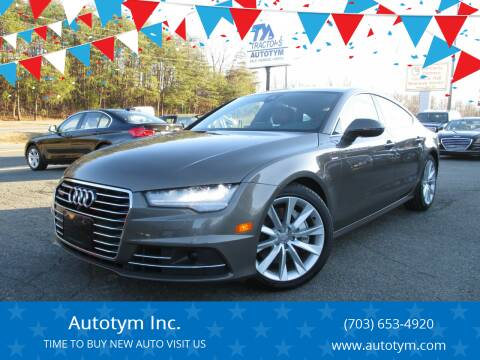 2016 Audi A7 for sale at AUTOTYM INC in Fredericksburg VA