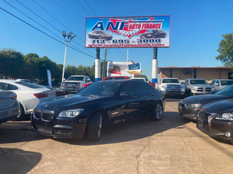 2013 BMW 7 Series for sale at ANF AUTO FINANCE in Houston TX