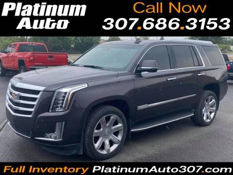 2016 Cadillac Escalade for sale at Platinum Auto in Gillette WY