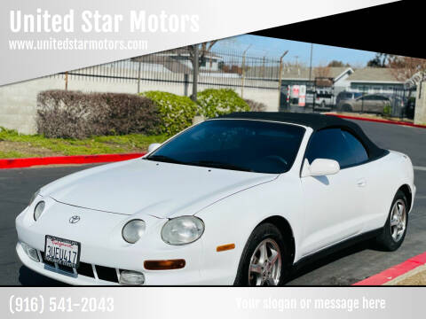 1996 Toyota Celica for sale at United Star Motors in Sacramento CA