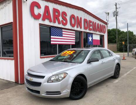 2012 Chevrolet Malibu for sale at Cars On Demand 2 in Pasadena TX