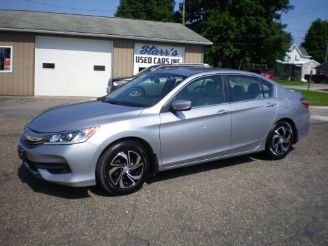 2017 Honda Accord for sale at Starrs Used Cars Inc in Barnesville OH