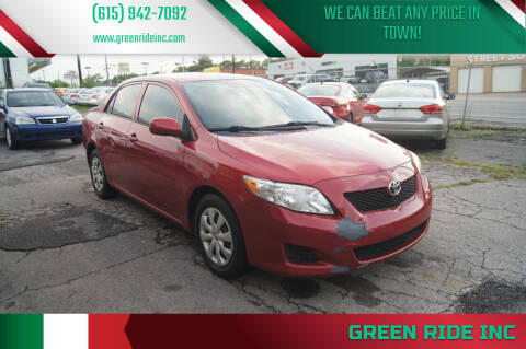 2009 Toyota Corolla for sale at Green Ride Inc in Nashville TN