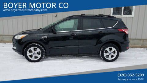 2013 Ford Escape for sale at BOYER MOTOR CO in Sauk Centre MN