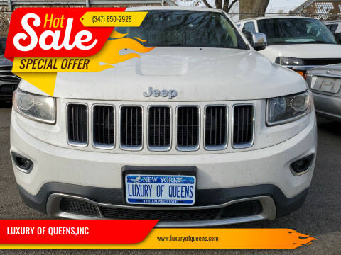 2015 Jeep Grand Cherokee for sale at LUXURY OF QUEENS,INC in Long Island City NY