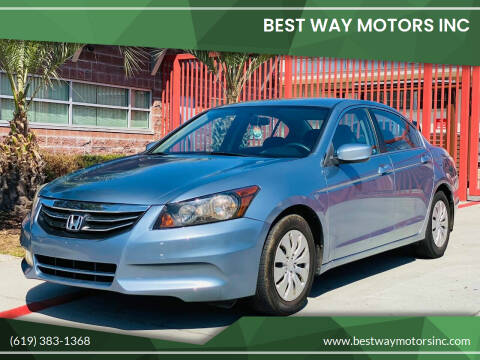 2011 Honda Accord for sale at BEST WAY MOTORS INC in San Diego CA