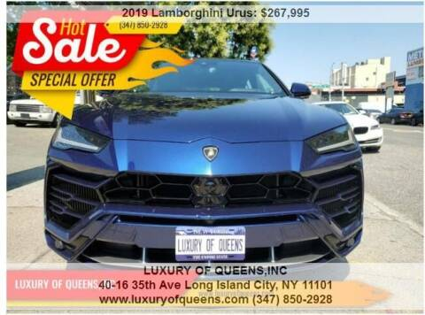 2019 Lamborghini Urus for sale at LUXURY OF QUEENS,INC in Long Island City NY