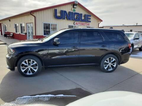 """2014 Dodge Durango for sale at UNIQUE AUTOMOTIVE """"BE UNIQUE"""" in Garden City KS"""