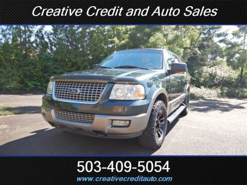 2003 Ford Expedition for sale at Creative Credit & Auto Sales in Salem OR