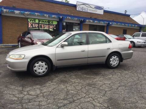 1998 Honda Accord for sale at Duke Automotive Group in Cincinnati OH