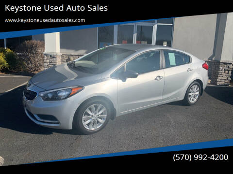 2014 Kia Forte for sale at Keystone Used Auto Sales in Brodheadsville PA