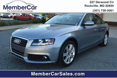 2011 Audi A4 for sale at MemberCar in Rockville MD