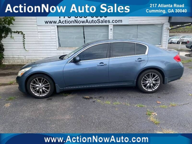 2007 Infiniti G35 for sale at ACTION NOW AUTO SALES in Cumming GA