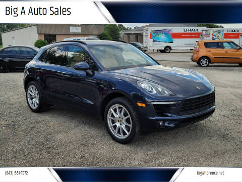 2017 Porsche Macan for sale at Big A Auto Sales Lot 2 in Florence SC