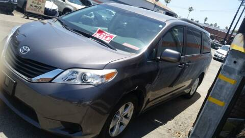 2013 Toyota Sienna for sale at Gus Auto Sales & Service in Gardena CA
