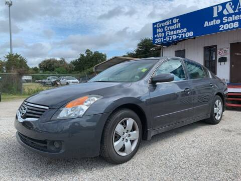 2008 Nissan Altima for sale at P & A AUTO SALES in Houston TX