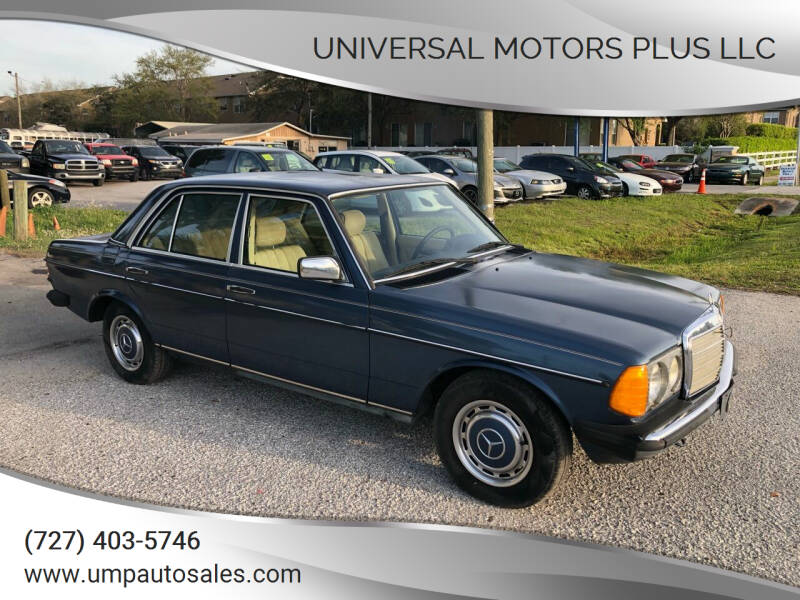 1984 Mercedes-Benz 230 for sale at Universal Motors Plus LLC in Largo FL