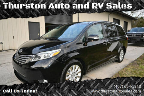 2015 Toyota Sienna for sale at Thurston Auto and RV Sales in Clermont FL