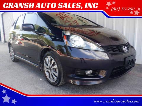 2013 Honda Fit for sale at CRANSH AUTO SALES, INC in Arlington TX