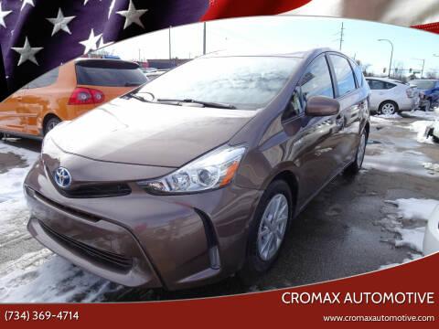2015 Toyota Prius v for sale at Cromax Automotive in Ann Arbor MI