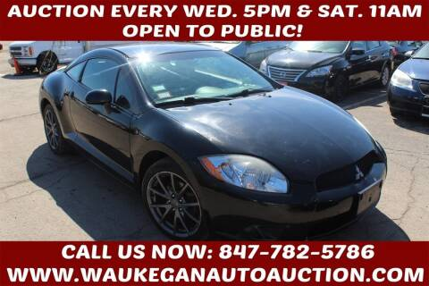 2012 Mitsubishi Eclipse for sale at Waukegan Auto Auction in Waukegan IL