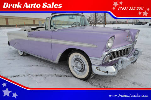 1956 Chevrolet Bel Air for sale at Druk Auto Sales in Ramsey MN
