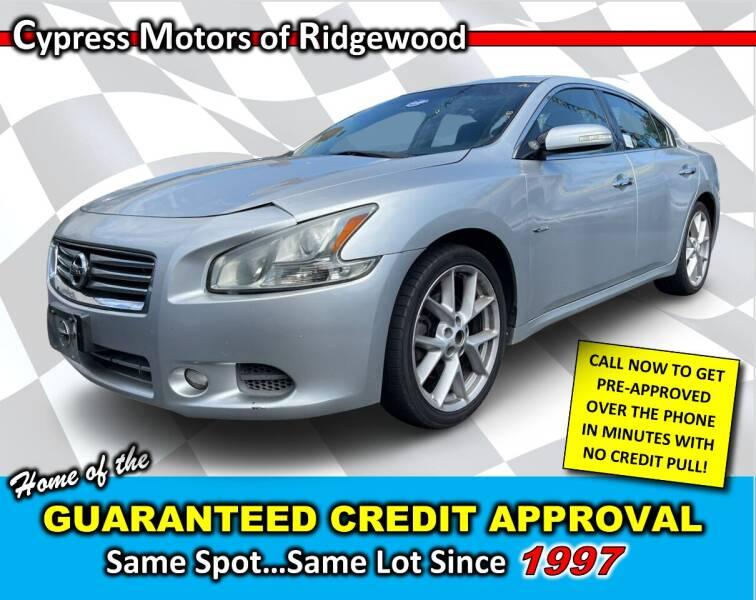 2013 Nissan Maxima for sale at Cypress Motors of Ridgewood in Ridgewood NY